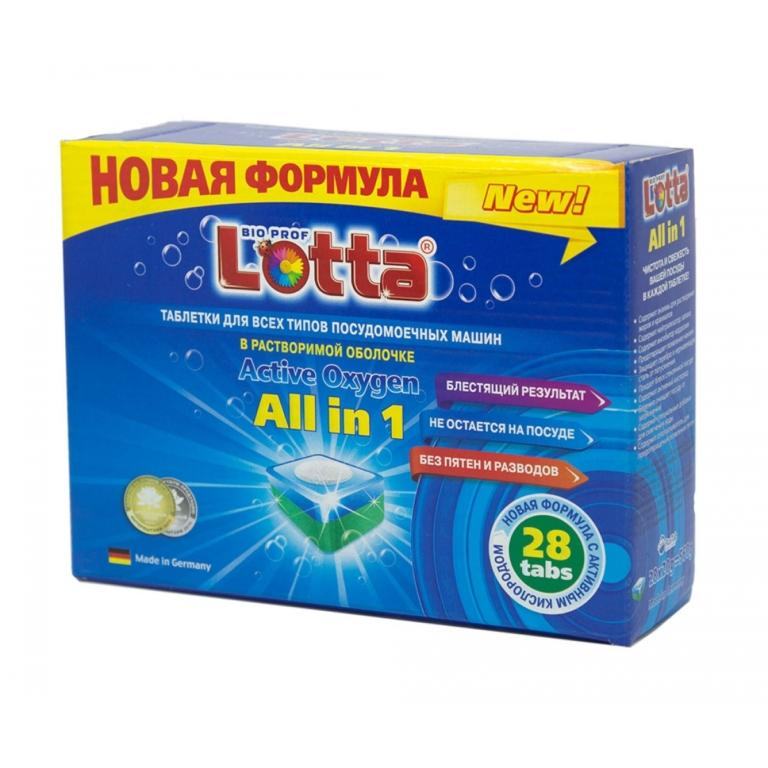 "tabletki dlya pmm lotta all in 1 28 tabletok 768x768 - Таблетки для ПММ LOTTA ""All in 1"" в растворимой оболочке 28 таб."